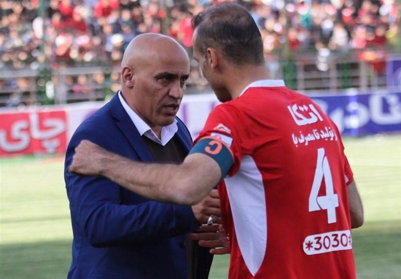 ژست های منصوریان در بازی با پرسپولیس