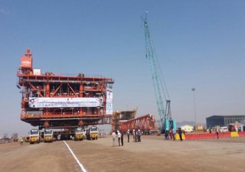 ساخت سکوی دریایی فاز 14 میدان گازی پارس جنوبی نمونه شاخص خودباوری و اقتصاد مقاومتی