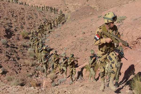 انهدام یک گروه تروریستی در صحرای سینا