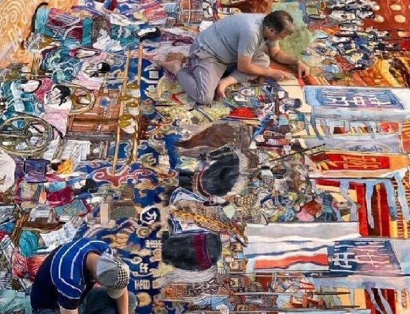 بافت بزرگ ترین تابلو فرش دنیا با همکاری پژوهشگر دانشگاه کاشان