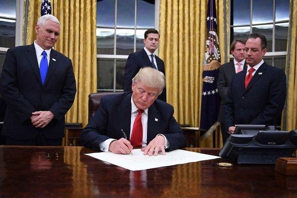 ترامپ مجوز احداث خط لوله نفتی کی استون را صادر کرد