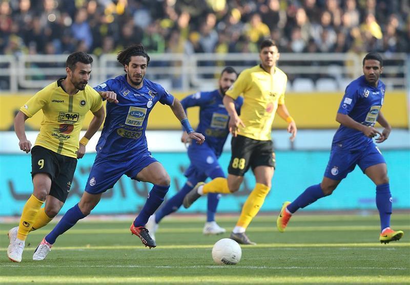 لیگ برتر فوتبال، رجحان یک نیمه ای سپاهان مقابل استقلال