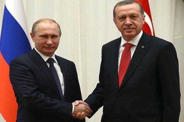 گفتگوی تلفنی اردوغان و پوتین درباره اوضاع سوریه و لیبی