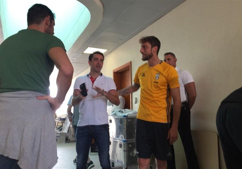 استقبال ژاوی از یوونتوسی ها در قطر پیش از سوپر جام ایتالیا