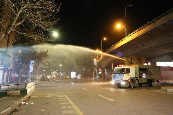 توسط تیم های برطرف آلودگی پایگاه هوایی شهید فکوری؛معابر عمومی شهر تبریز ضد عفونی شد
