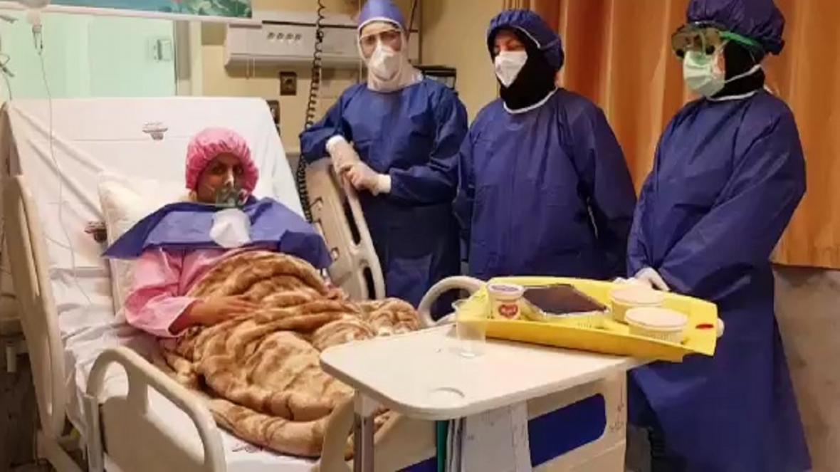 بهبود مادر باردار مبتلا به کرونا در بیمارستان شهید بهشتی کاشان