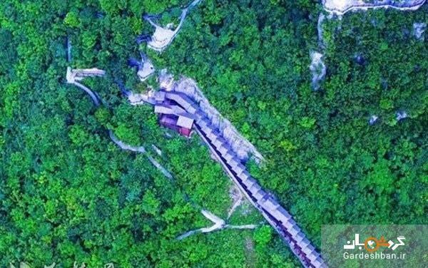 طولانی ترین پله برقی دنیا در منطقه گردشگری ویژه چین، عکس