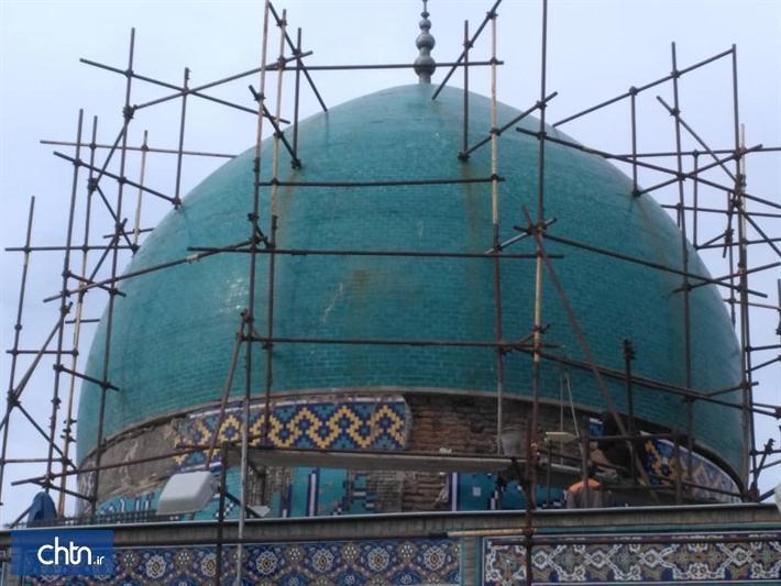 اتمام بازسازی بنای تاریخی گنبدسبز مشهد