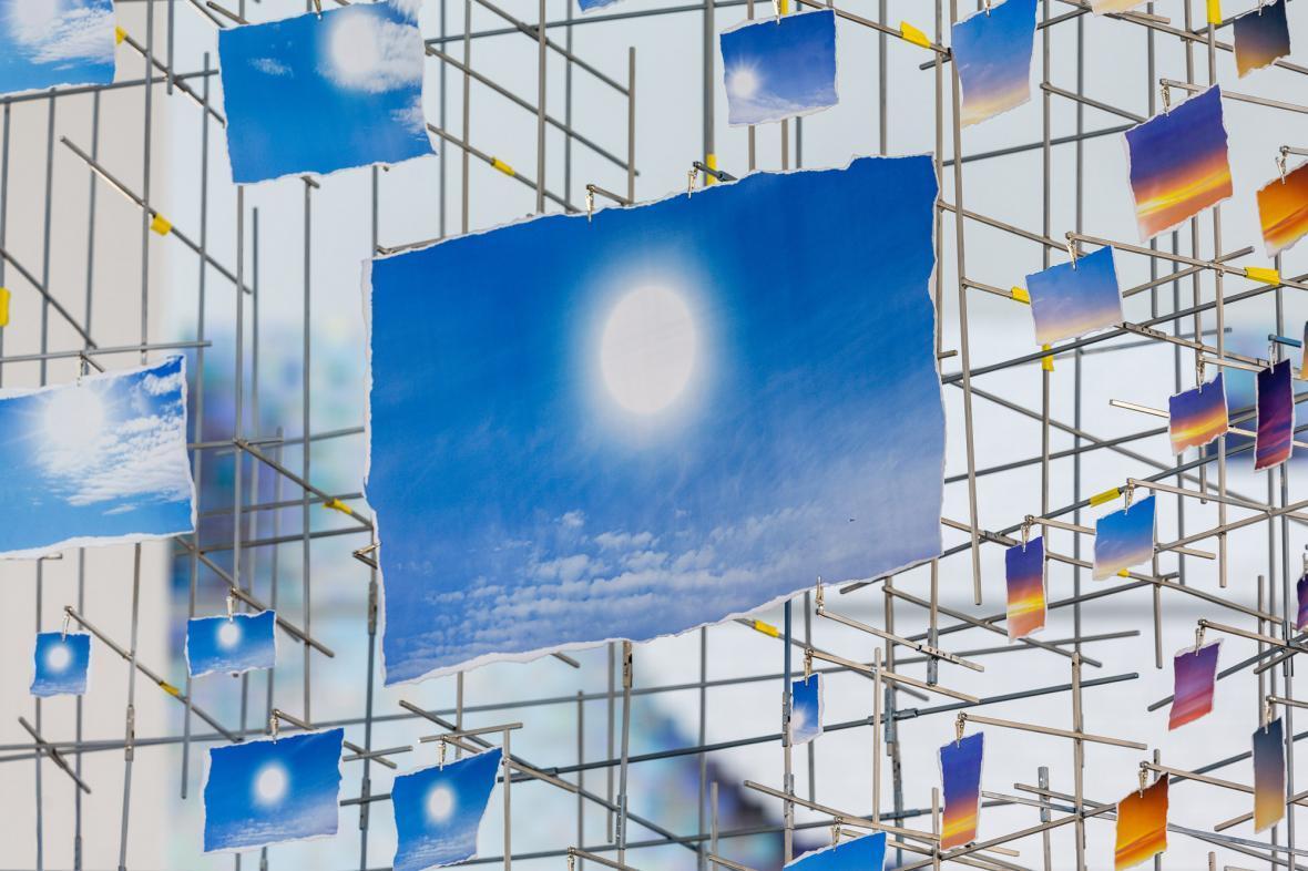 هزار عکس از آسمان نیویورک در یک چیدمان عکس عظیم