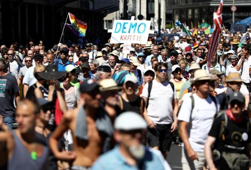 آلمان؛ اعتراض به محدودیت های کرونایی