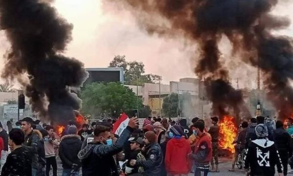 ادامه اعتراضات در جنوب عراق به ترور فعال مدنی